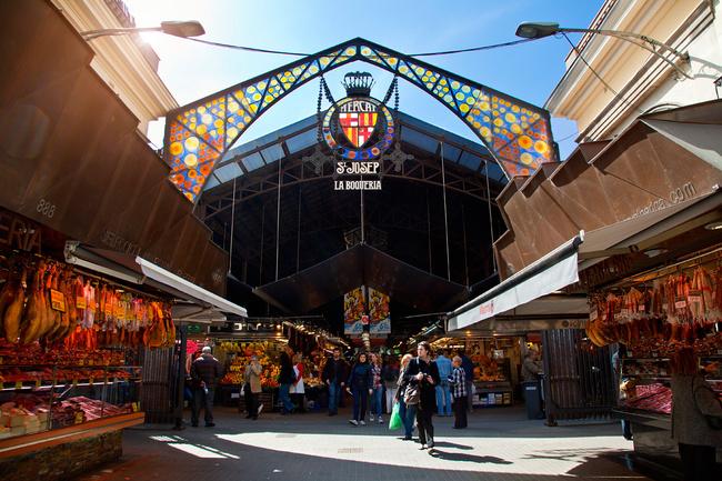 mercado la Boquería de Barcelona