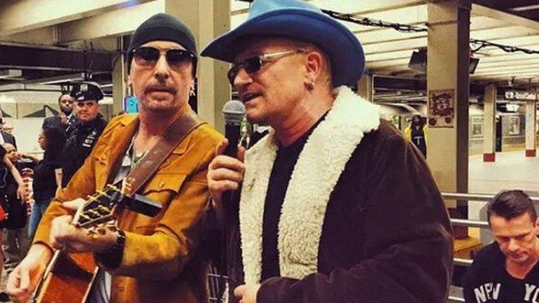 U2 en el subte de NY
