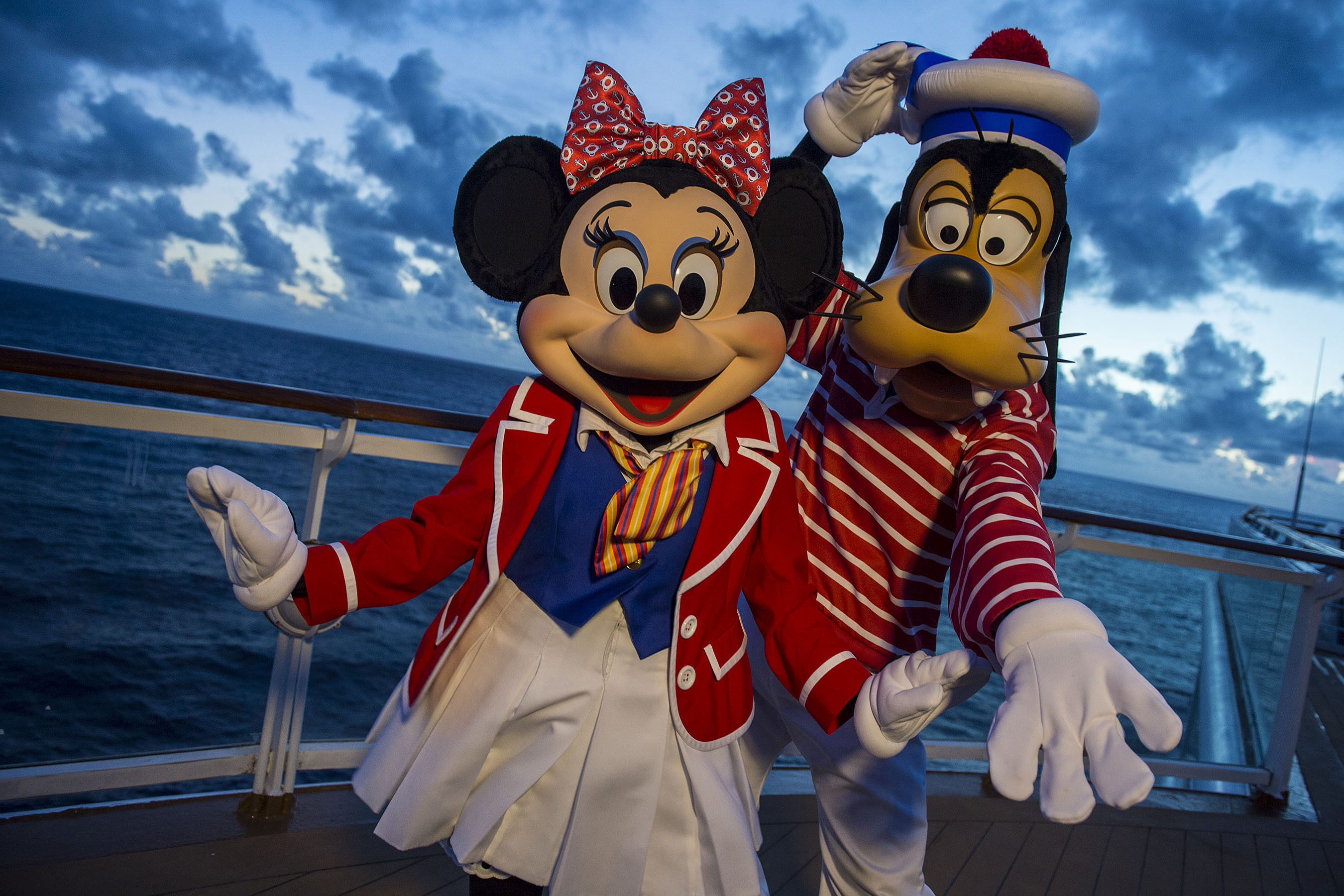 Minnie and Goofy on the Disney Magic