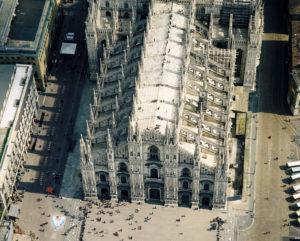 construcción del duomo de milan