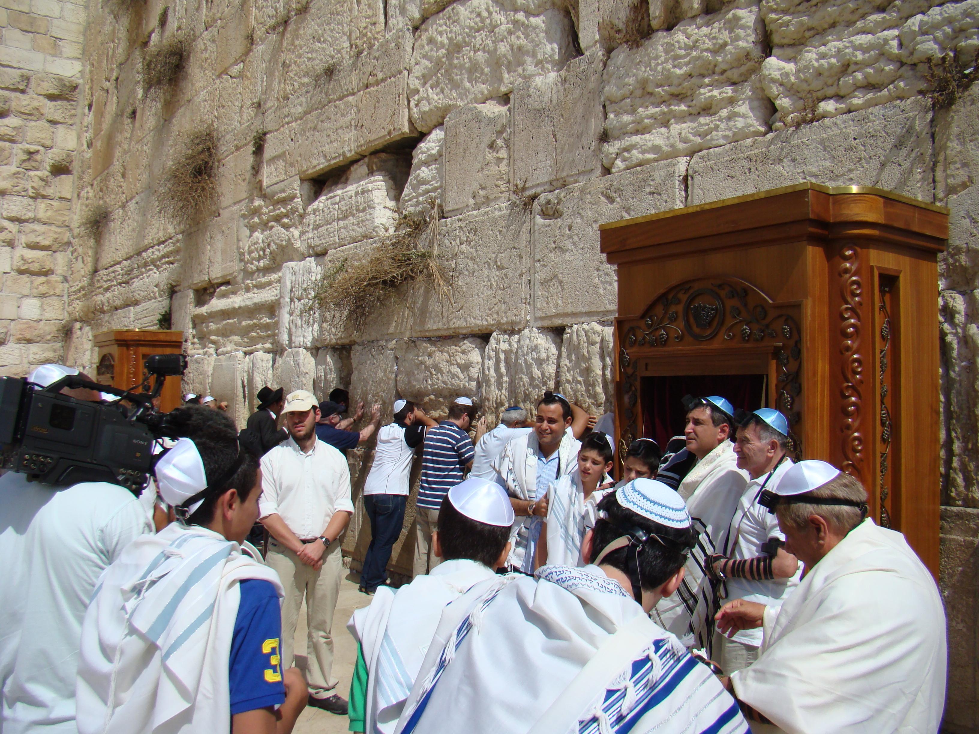 Muro de los lamentos en Jerusalen
