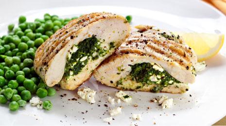 Pollo y espinacas