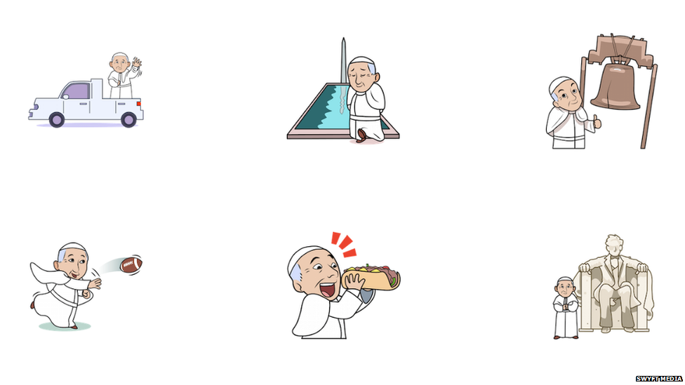 Emoticones del Papa Francisco
