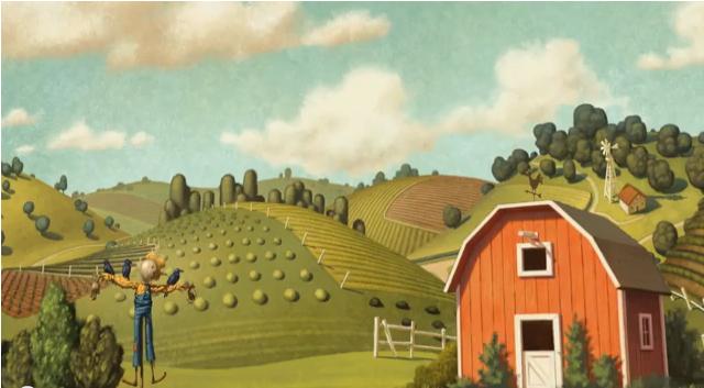 La pieza audiovisual muestra un mensaje claro contra la industria cárnica en la que los animales son engordados de forma artificial y tratados injustamente. Pero, ¿qué hay detrás? Este cortometraje, además de ser un mensaje en pro de la producción natural de alimentos, forma parte de una campaña para promocionar la aplicación The Scarecrow para iPad e iPhone, en la que los jugadores ayudarán a acabar con los planes de Crow Foods, romper su monopolio, defender a los animales y contribuir con el ambiente. Los logros obtenidos en el juego podrán canjearlos por burritos, ensaladas y demás platos en los restaurantes de Chipotle, en Estados Unidos.