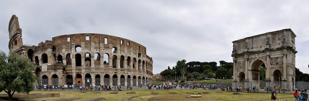 coliseo-y-arco-de-tito_Roma