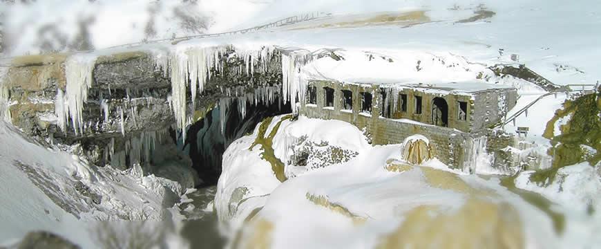 puente del inca helado