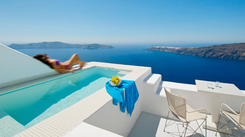Santorini grecia buena vibra for Fondos de piscinas dibujos