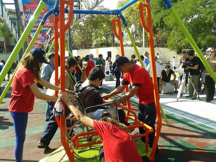 parque para chicos discapacitados