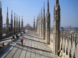 tejados de la catedral de milan