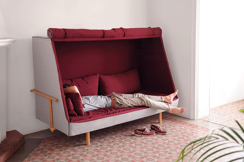 Un mueble que es sof cama y cabina privada buena vibra for Mueble divan cama