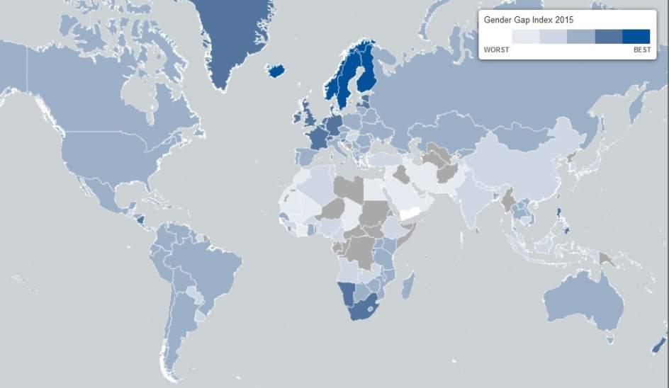 Mapa desigualdad de genero