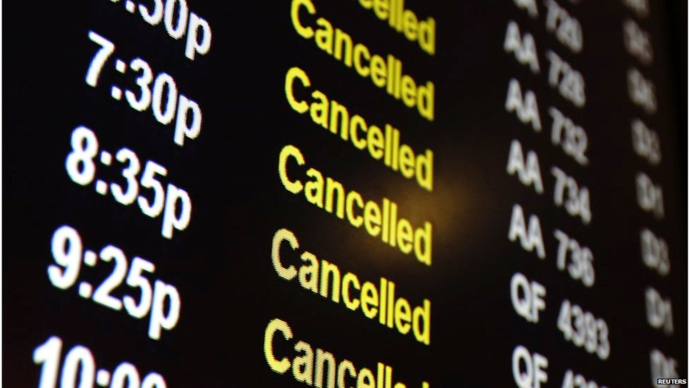 Resultado de imagen de vuelo cancelado