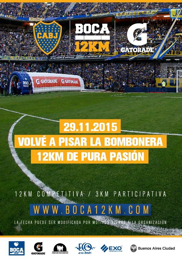 Flyer carrera Boca