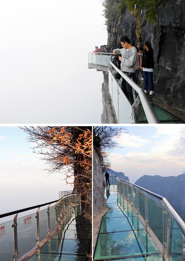 Pasarela en la Montaña Tianmen, China