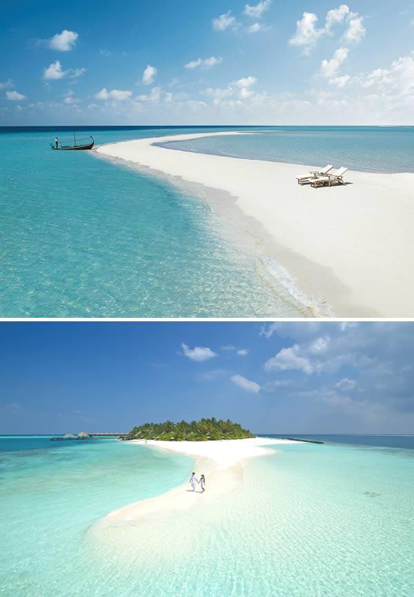 Pasarela natural, Islas Maldivas