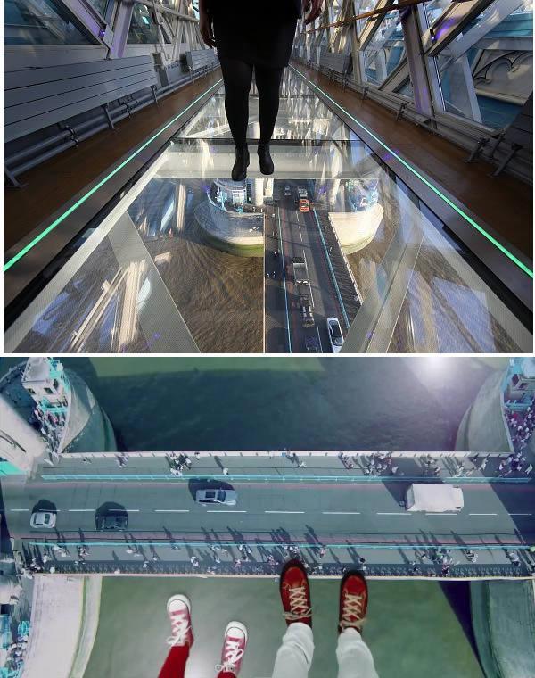 Puente de vidrio en Inglaterra