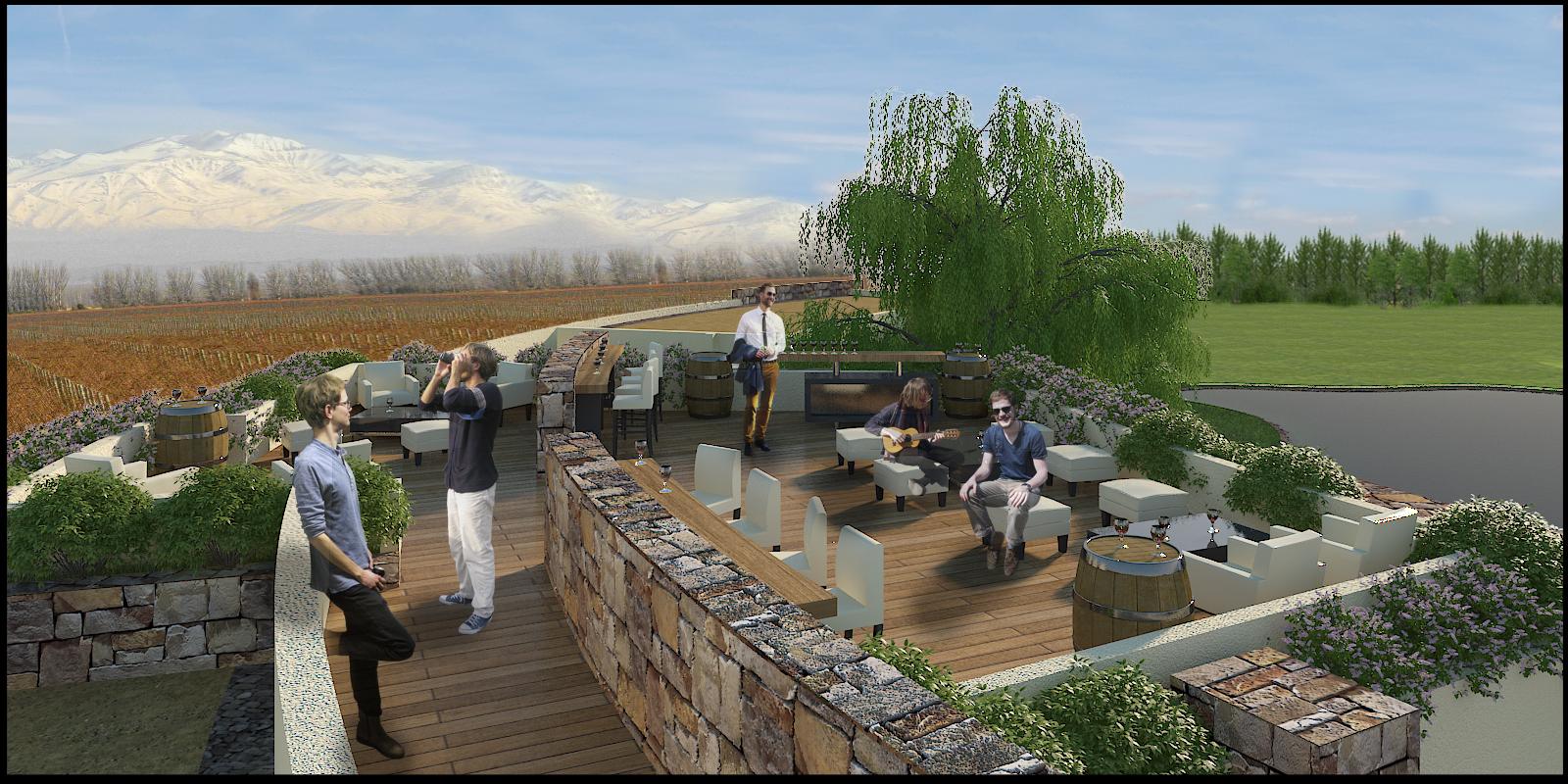 Renacer- Visitor Center- terraza con vista 360