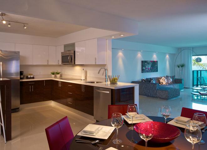 Miami Beach Hotel Two Bedroom Suite Dining Buena Vibra
