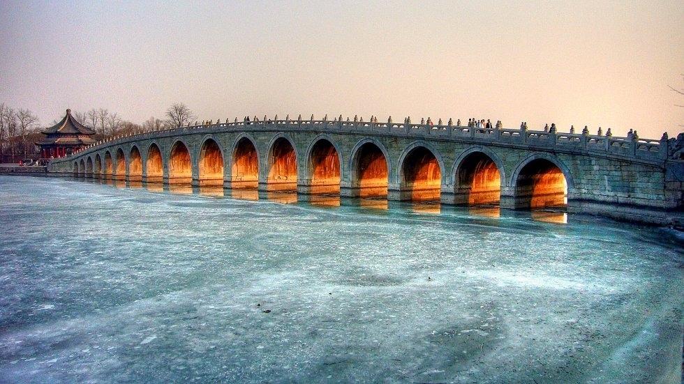 Puente de los 17 arcos en Pekín, China
