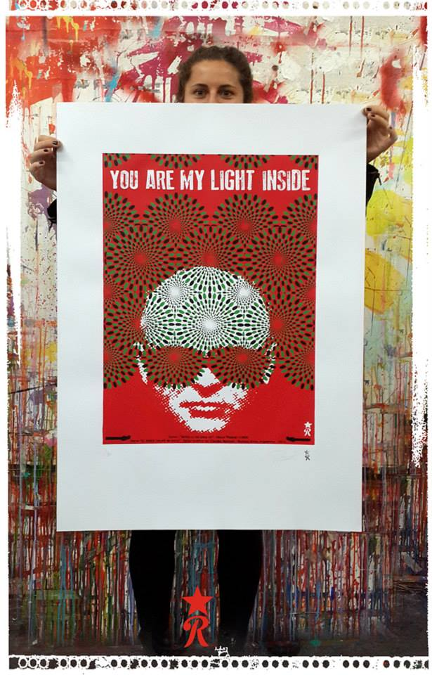 -You are my light inside- - SUMO - Luca Prodan Serie- EL ROCK SALVO MI VIDA Serigrafías sobre papel 250 g 60 X 90 cm - 5 colores - Edición 25 copias
