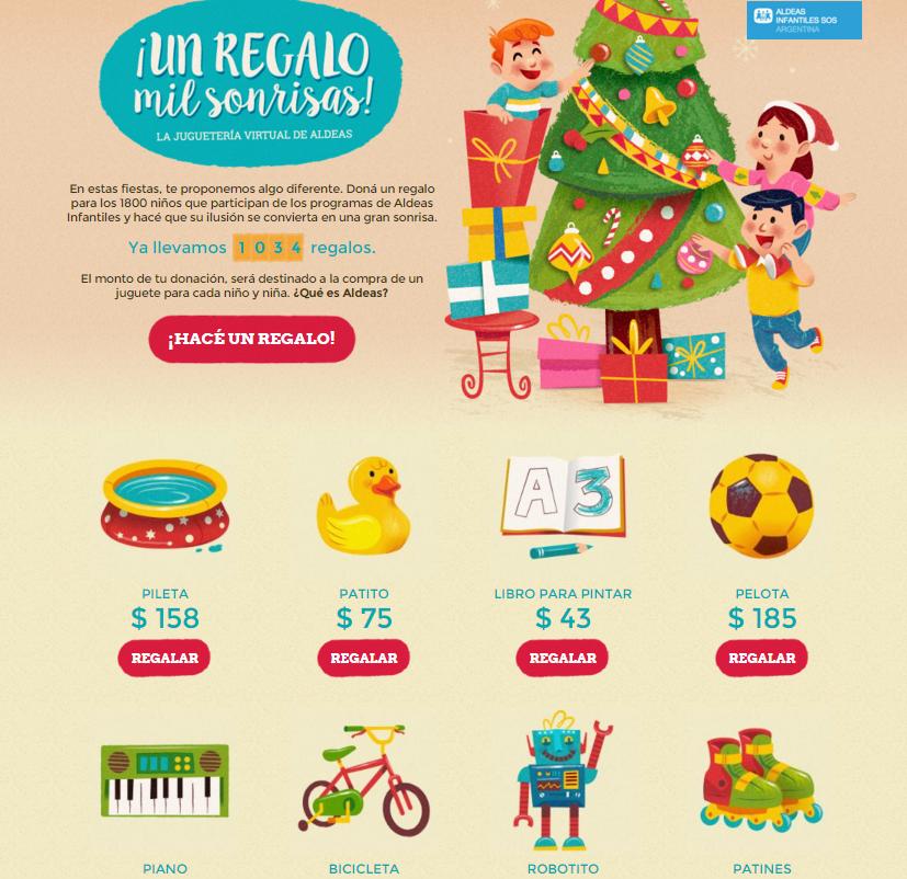SolidariaSumate A Sonrisas Campaña La RegaloMil Navidad Un 0wPX8nOk