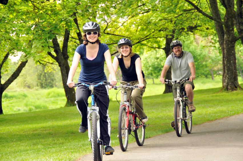 andar en bicicleta