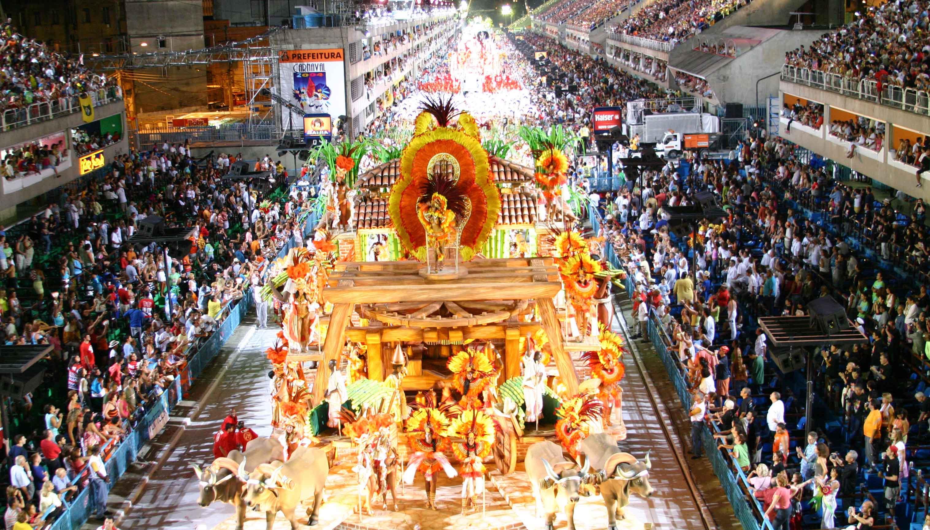 Festejo del carnaval en Río de Janeiro
