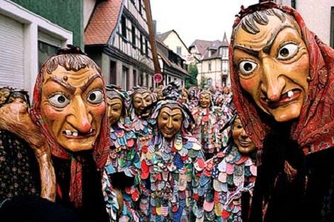 Los cabezones de los festejos alemanes del carnaval
