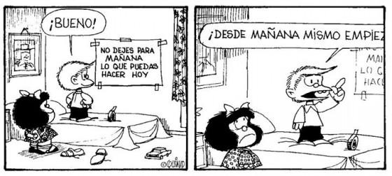 Mafalda procastinacion