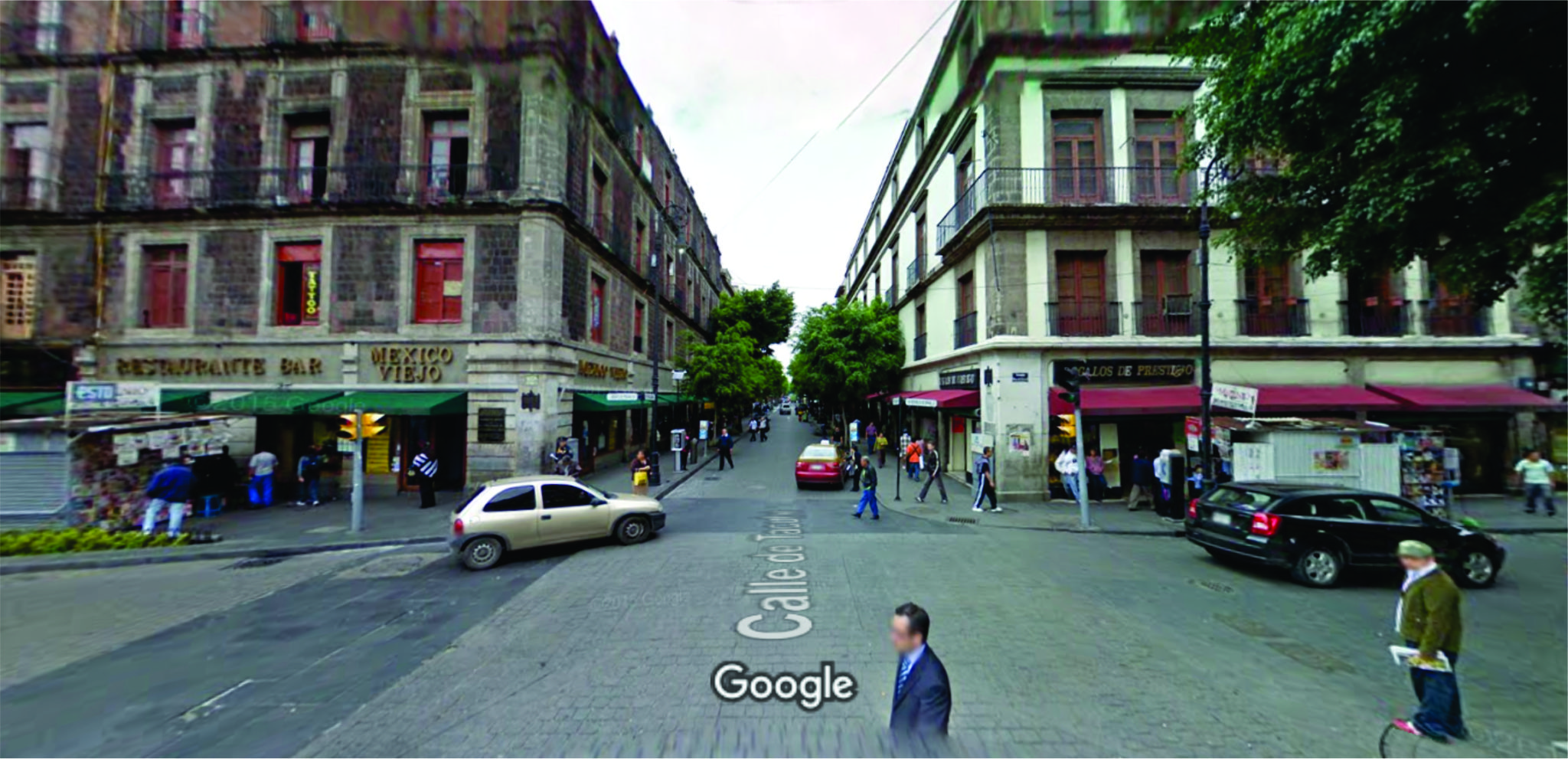 calle más antigua Tacuba inicio Mexico DF