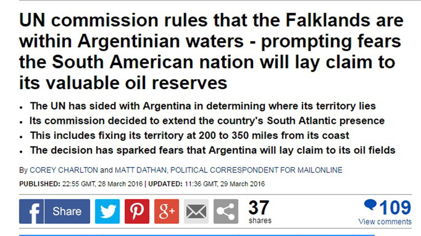 noticia plataforma continental argentina the daily mail