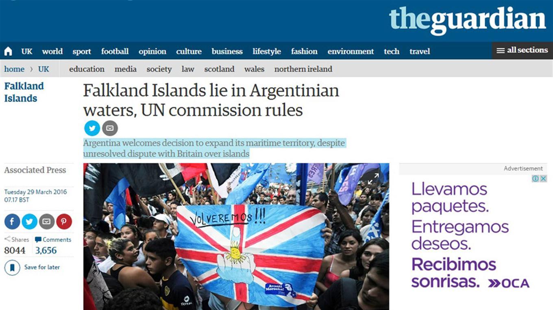 noticia plataforma continental argentina the guardian