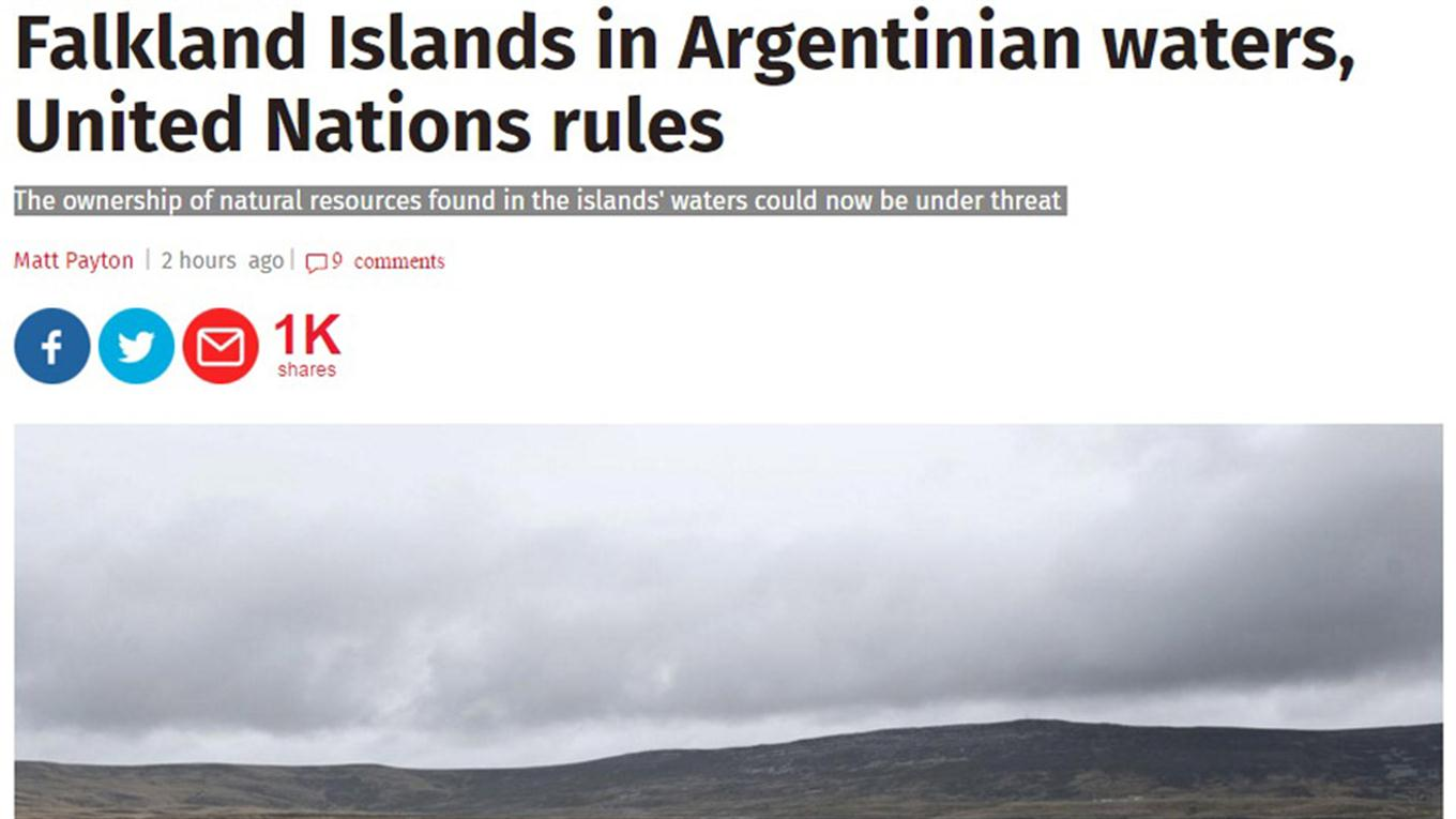 noticia plataforma continental argentina the independent