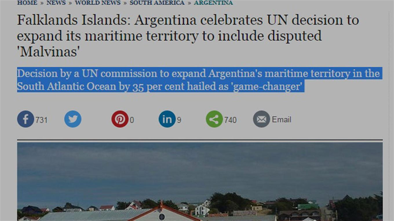 noticia plataforma continental argentina the telegraph