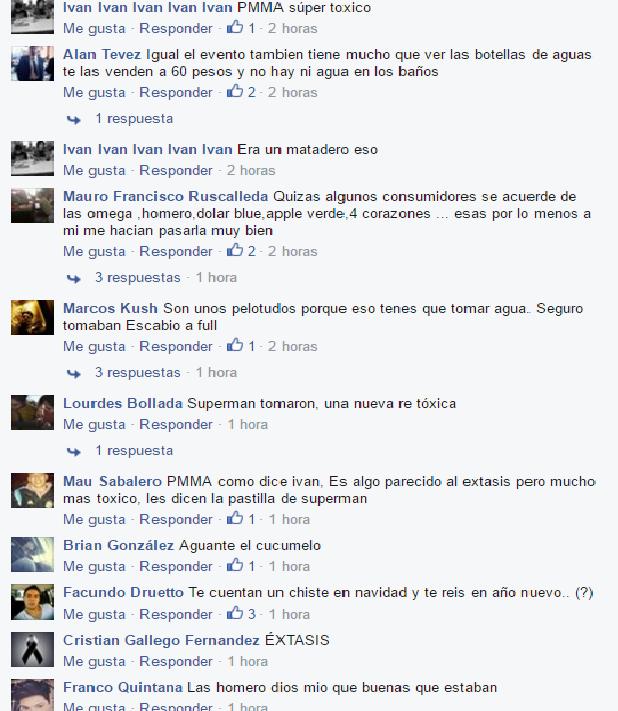 """""""Charla"""" sobre el tema en un grupo de Facebook"""