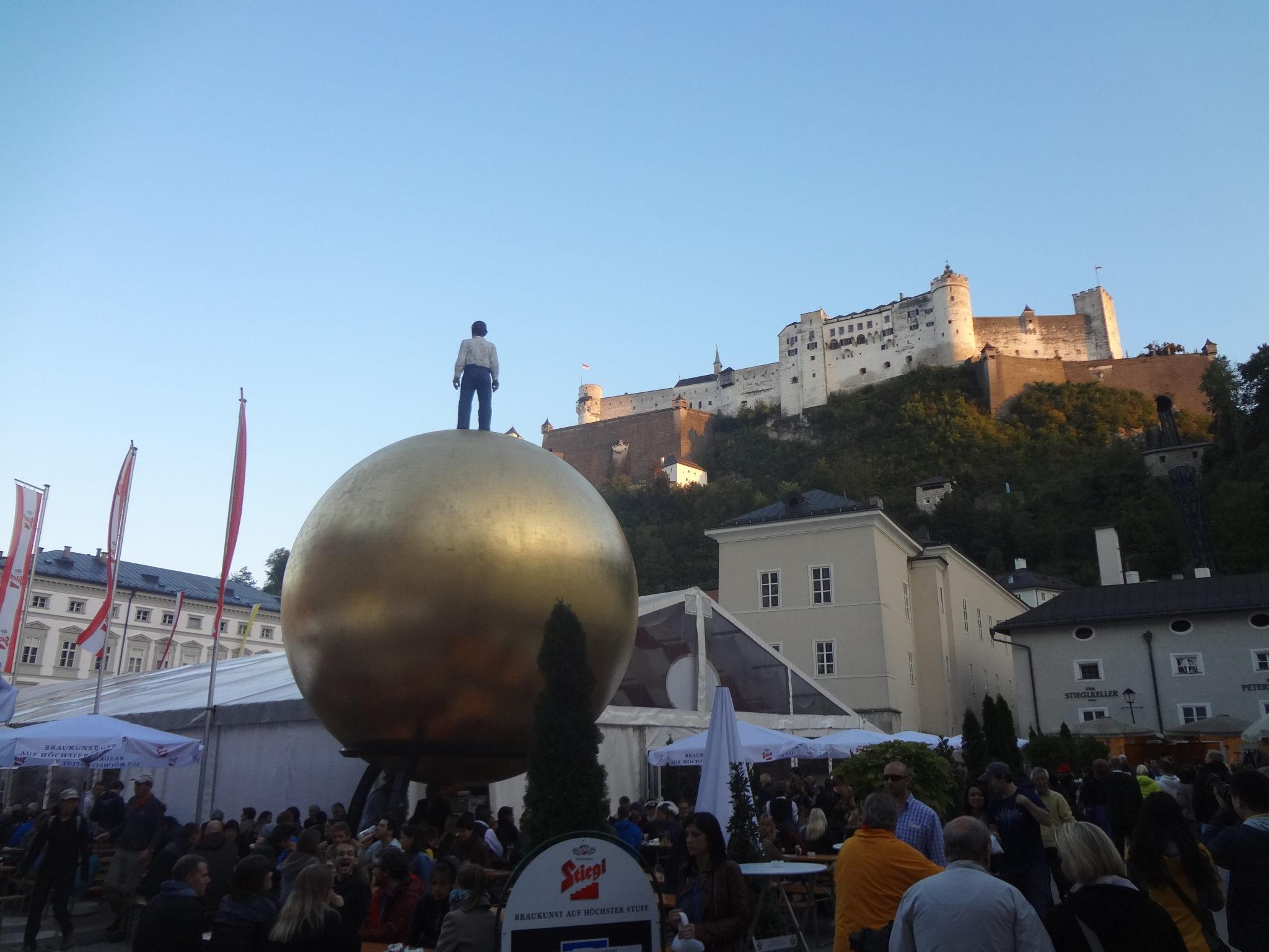 Subir al castillo en salzburgo