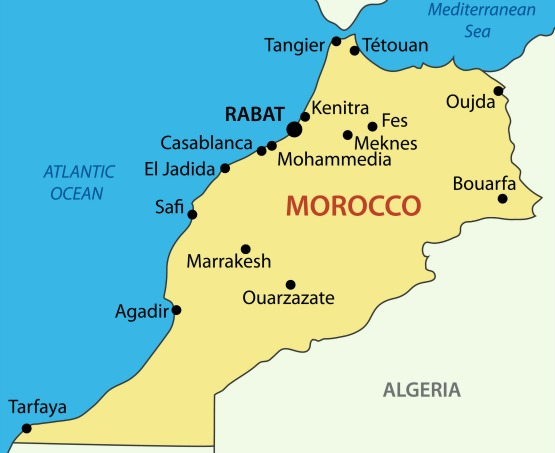 Kingdom of Morocco - vector map