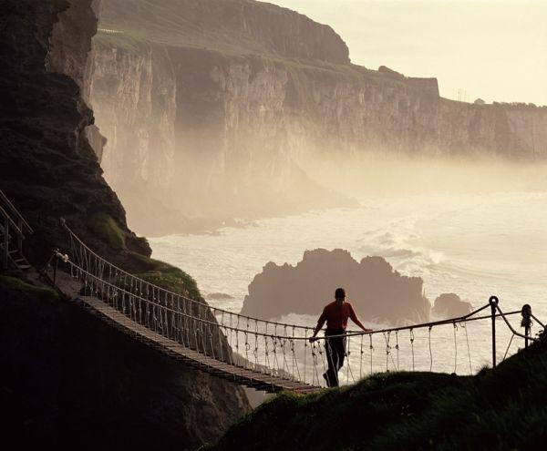 Irlanda carrick-a-rede-rope-bridge