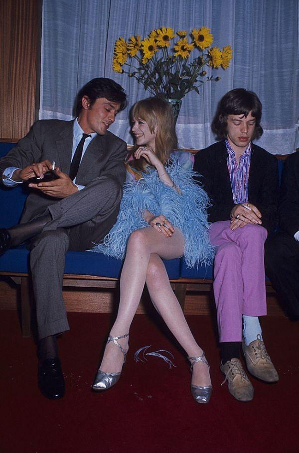 "Mick Jagger ""pierde"" si entraba en escena Alain Delon"