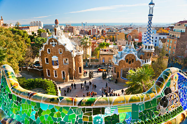 Park Guell in Barcelona, 600