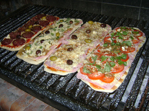 pizza a la parrilla