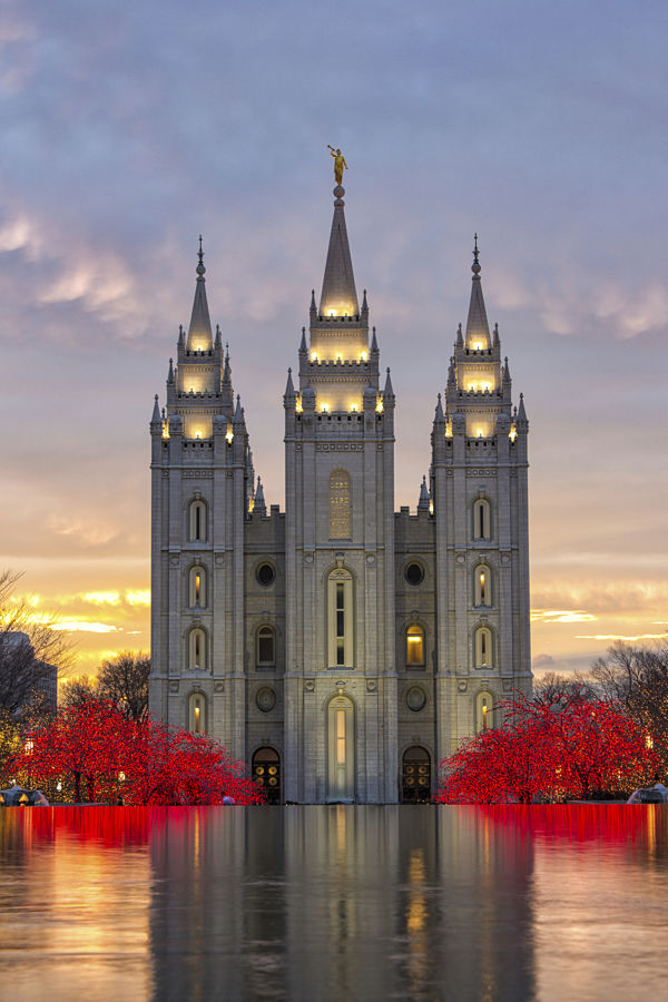 The Salt Lake City Utah Templo Mormón