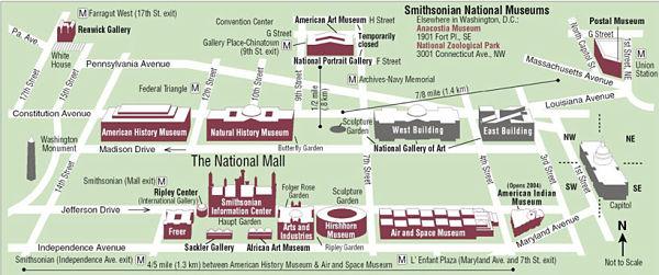 mapa del MaLL de Washington DC