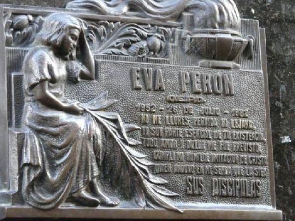 Dónde está enterrada Eva Perón