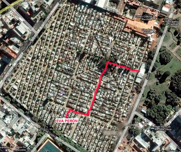 dónd está sepultada Eva Perón