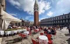 Cafés plaza San marco de venecia