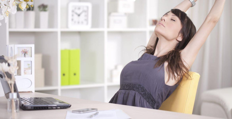 ejercicio en la oficina