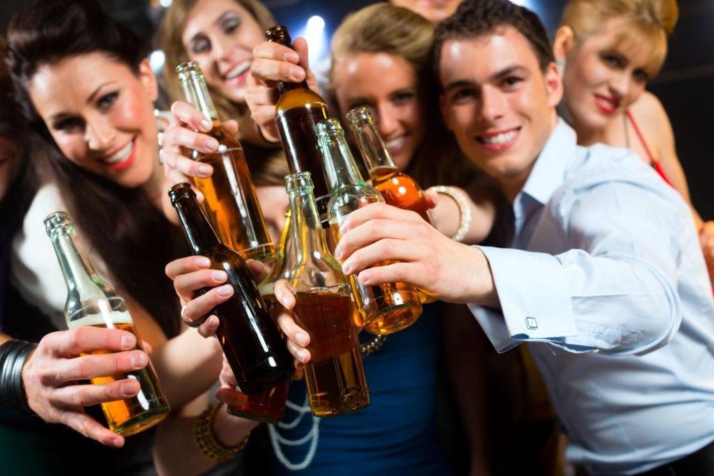 alcohol en las fiestas