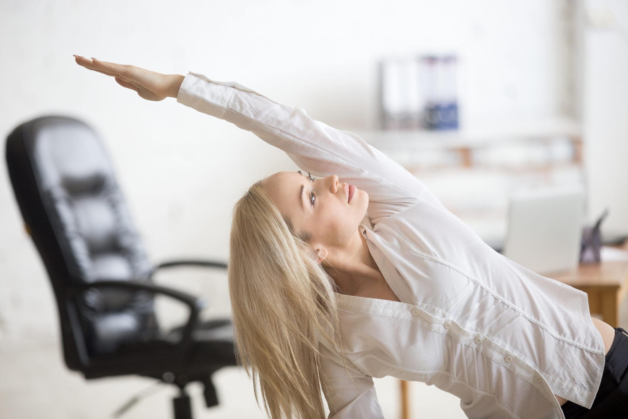ejercicios en la oficina