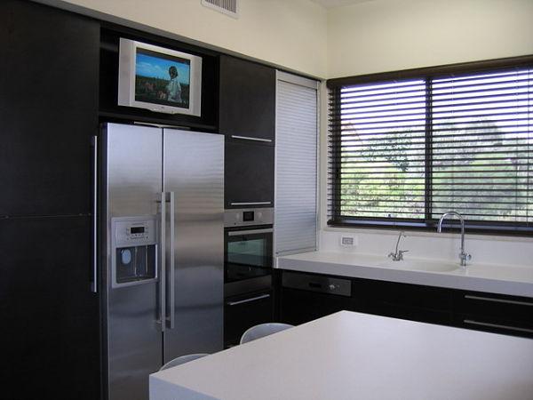 televisor en la cocina